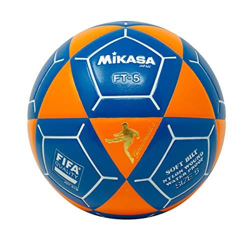 (Mikasa FT5 Goal Master Soccer Ball, Orange/Blue, Size 5)