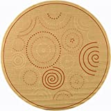Safavieh Courtyard Collection CY1906-3201 Natural and Terra Indoor/ Outdoor Round Area Rug (6'7
