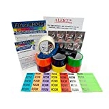 Tag-A-Room Move by Color, Moving Tape (7 Rolls) with Colored Moving Labels, Legend Sheet, and Door Id's, Move By Color, Moving Supplies
