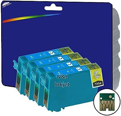 4 cartuchos extra grandes de tinta color cian tipo E1812 ...