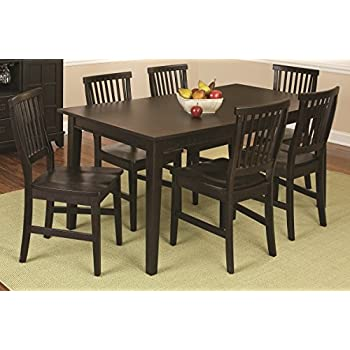 Home Style 5181 319 Arts And Crafts 7 Piece Rectangular Dining Set, Black