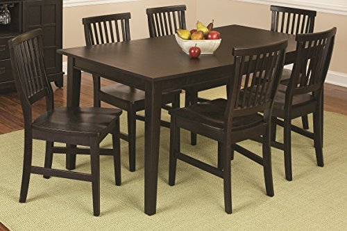Home Styles 5181-319 Arts and Crafts 7-Piece Rectangular Dining Set, Black Finish -