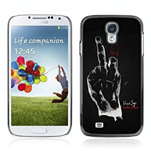 Designer Depo Hard Protection Case for Samsung Galaxy S4 / Hand Sign of Peace