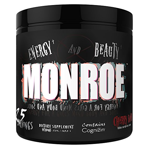 Dark Metal Monroe Endurance Energy Supplements, 5 Ounce, Cherry Bomb