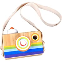 FnieYxiu Toys, Funny Wooden Hanging Camera Toy Mini Early Education Baby Kids Birthday Gift