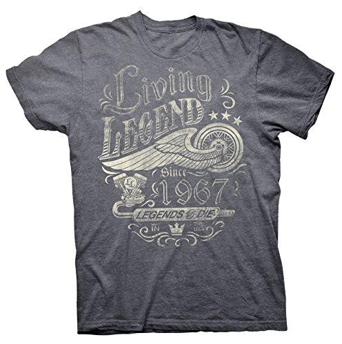 Living LEGEND Since 1967 - Legends Never Die - Distressed (Mens Never Die)