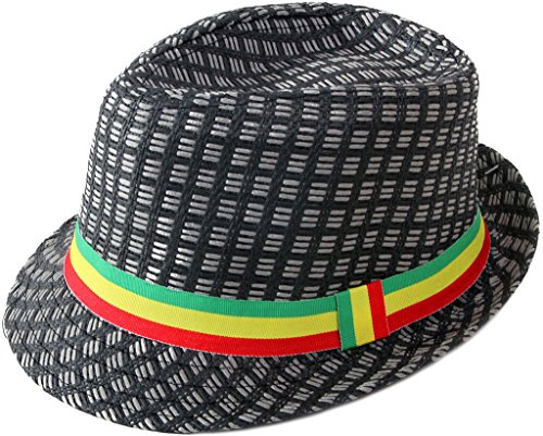 TAUT-Unisex-Short-Brim-Sun-Fedora-Hat-with-Solid-Colorful-Band