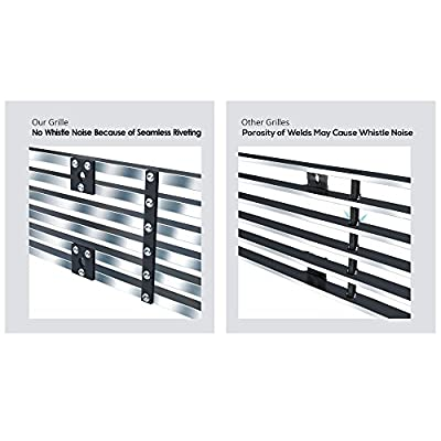 APS Compatible with 2015-2020 Chevy Silverado 2500HD 3500HD Stainless Bumper Billet Grille C66319C: Automotive