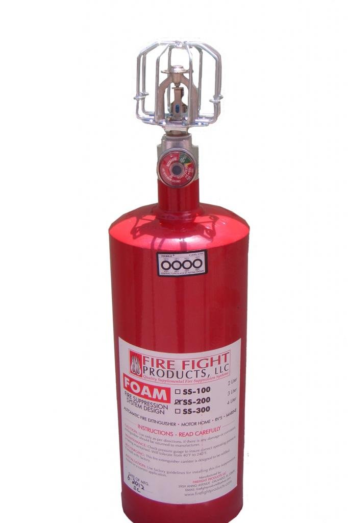 Fire Fight Products - SS200-FOAM Large Format 3 Liter FOAM Foam Automatic release Fire Suppression