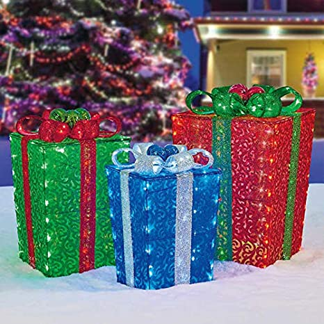 early black friday deal christmas holiday led decorative gift boxes nestable indoor outdoor decor