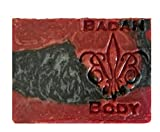 Badan Body Dragon's Blood Scented Shea Butter Soap Organic Vegan, Red Black 5oz Bar