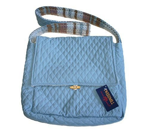 amp; Wool Recycled Shoulder Quilted Bag Textiles Random Tweedmill by Blue BTwp45qZT