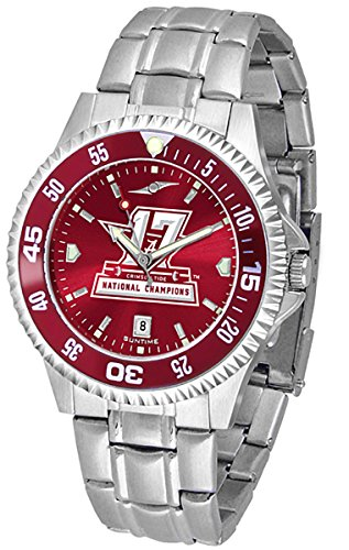 Alabama Crimson Tide 2017 National Champions Watch - Competitor Steel AnoChrome - Color Bezel (Steel Watch Anochrome)