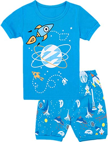 Tkala Fashion Boys Pajamas Children Clothes Sets 100% Cotton Little Kids Pjs Sleepwear (3-Pajamas, 12)