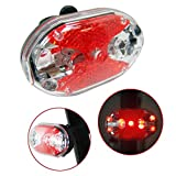 DZT1968 Waterproof 9 LED Bike Bicycle Safety Front Tail Light Lamp Back Rear Flashlight without battery