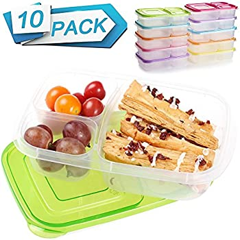 10 Pack SCIONE Meal Prep Containers 3 Food Prep Containers