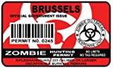 Vancover Zombie Hunting Permit Sticker Size: 4.95x2.95 Inch (12.5x7.5cm) Cut Decal outbreak response team Canada