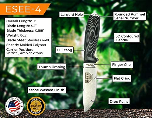 ESEE-4 Fixed Blade Knife