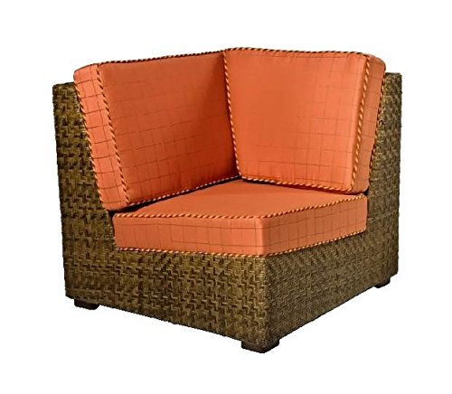 Woodard Domino Wicker Corner Lounge Chair (Thayer)