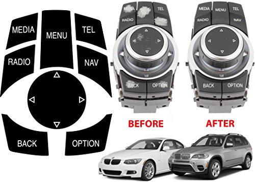 Alpha BMW iDrive Repair Kit Replacement Stickers For Select BMW Vehicles