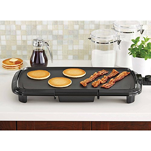Mainstays Die Cast Aluminum Bakeware Grill Plate Griddle with Adjustable Thermostat (Crepe Griddle Replacement compare prices)