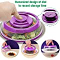 Lebeauty Kitchen Instant Vacuum Cover Food Sealer Fresh Cover Fresh Universal Vacuum Air-Tight Food Sealer Container Plate Cover Topper Dome, Stackable Dishwasher & Microwave Oven Safe 5.97.53 in