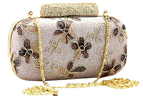 C&T Evening Bags - Cartera de mano para mujer plateado plateado Rosa - rosa