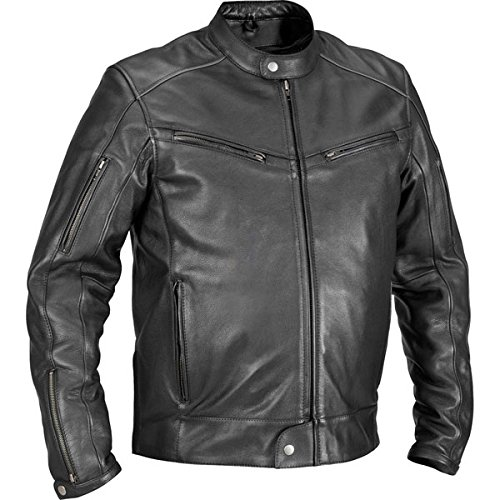 (River Road Muskogee Cool Leather Jacket - 50/Black)