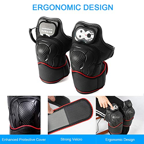 Heated Knee Massager for Arthritis Joint Pain Relief, Ideal for Recovery of Knee Injury Cramps Arthritis Muscles Pain - 1 Pair