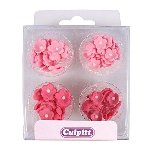 Sugar Icing Flowers - Mini Daisy Sugar Decorations - Pink