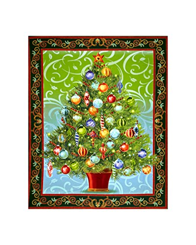 Holiday Treasures Metallic Christmas Tree 36in. Panel Forest Fabric By The Yard (Panel Fabric By The Yard compare prices)
