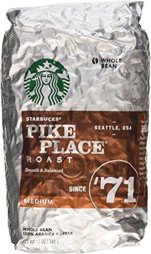Starbucks Pike Place Roast, Whole Bean, 12 Oz. (Pack of 2 Bags) (Starbucks Coffee Beans Pike Place)