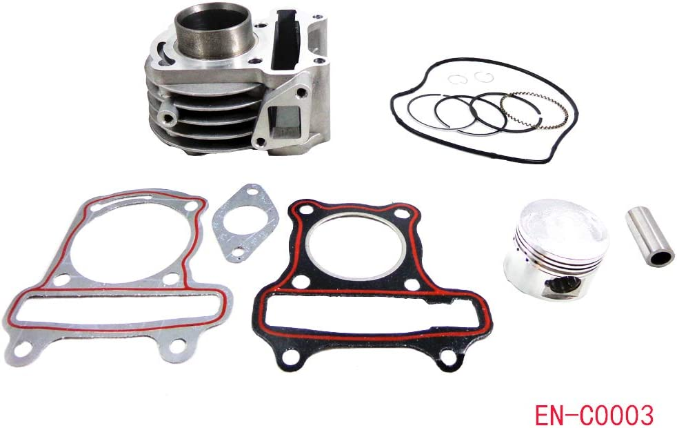 Gy6 50cc engine parts 39mm Piston set rings Gaskets Peace JCL Scooter Moped SunL