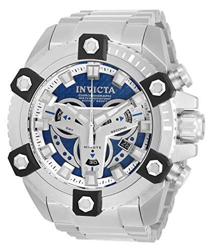 Reloj de cuarzo para hombre Invicta Coalition Forces con correa de acero inoxidable, plateado, 31 (modelo: 30904)