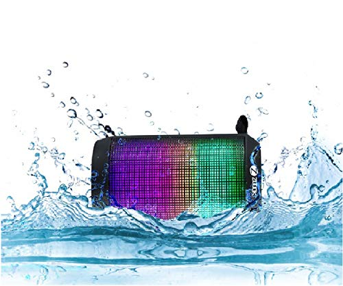 Zoook ZB RockerMini Splash Proof Wireless Bluetooth Portable Speaker with Dynamic LED Lights and HD Sound
