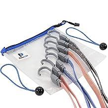 Busy Life Premium Bungee Cord Set, Strong Flat Strap Design, Bonus Water Resistant Storage Bag