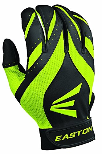 Womens Glove Fastpitch Batting (Easton Women's Synergy II Fastpitch Batting Gloves (Small, Black/Optic))