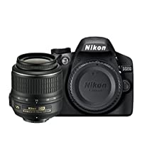 Nikon D3200 Digital SLR with 18-55mm VR II Lens Kit - Black (24.2 MP) 3.0 inch LCD