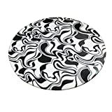 """KLEO 36"""" Black and White Handcrafted Marble Pietre Dure Pietra Dura Table Top (without stand)"""