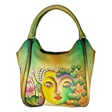 Charmeine Women's Leather Hobo Bag Buddha Painting 38 cm x 35.6 cm x 18 cm Multi Color