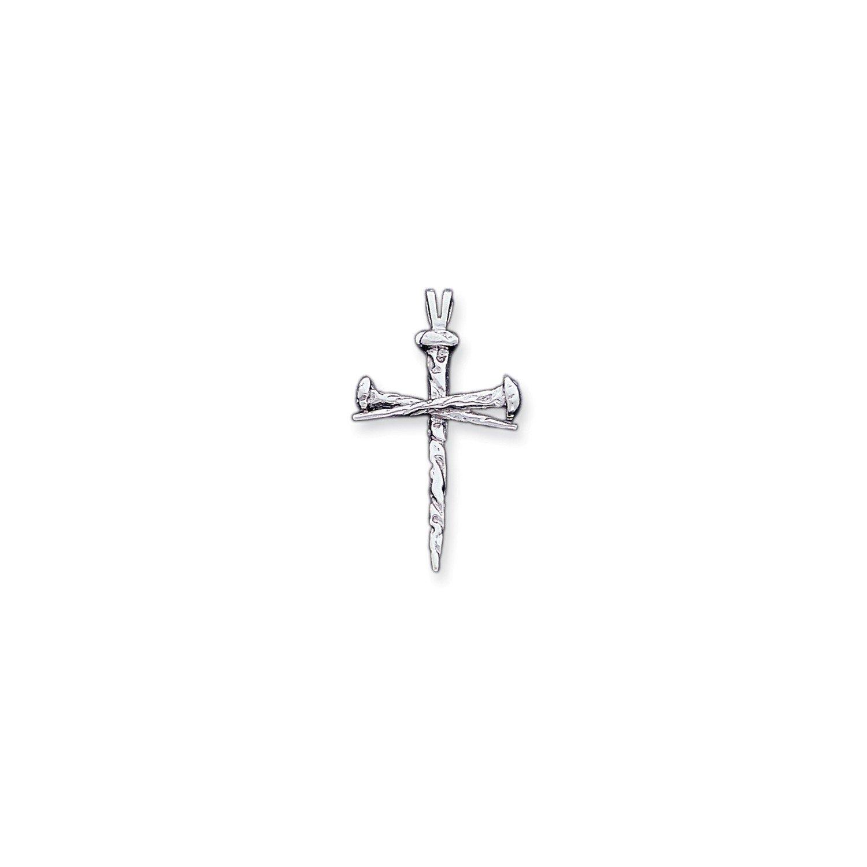 Roy Rose Jewelry 14K White Gold Cross Charm 42mm length