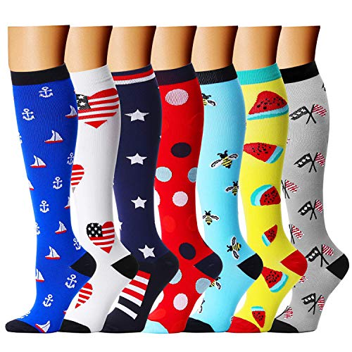 CHARMKING Compression Socks 15-20 mmHg is BEST Graduated Athletic & Medical for Men & Women Running, Travel, Nurses, Pregnant - Boost Performance, Blood Circulation & Recovery(Small/Medium,Assorted 5) (Man Pulls Down Womens Tops And Runs)