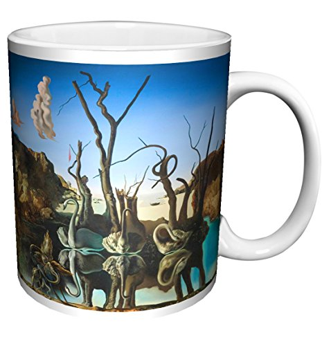 Elephants Swans Reflecting (Salvador Dali Swans Reflecting Elephants Fine Surrealist Art Ceramic Gift Coffee (Tea, Cocoa) 11 Oz. Mug)