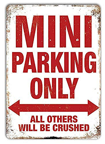 ミニパーキングのみ 金属板ブリキ看板注意サイン情報サイン金属安全サイン警告サイン表示パネル