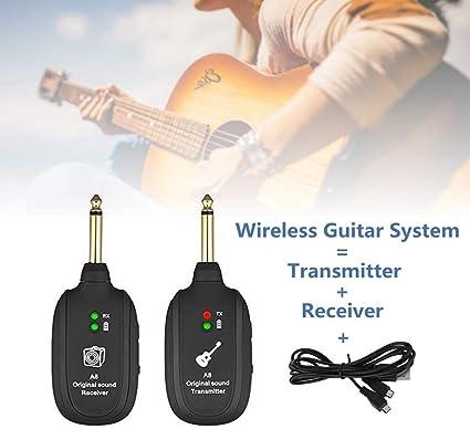 Wireless Audio Transmitter Receiver System für E-Gitarren-Bass-Violine
