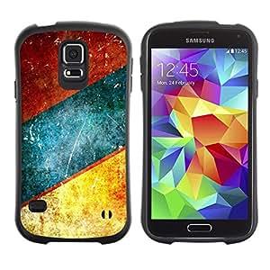 "Pulsar iFace Series Tpu silicona Carcasa Funda Case para Samsung Galaxy S5 , Líneas azul del trullo Brown rústico"""
