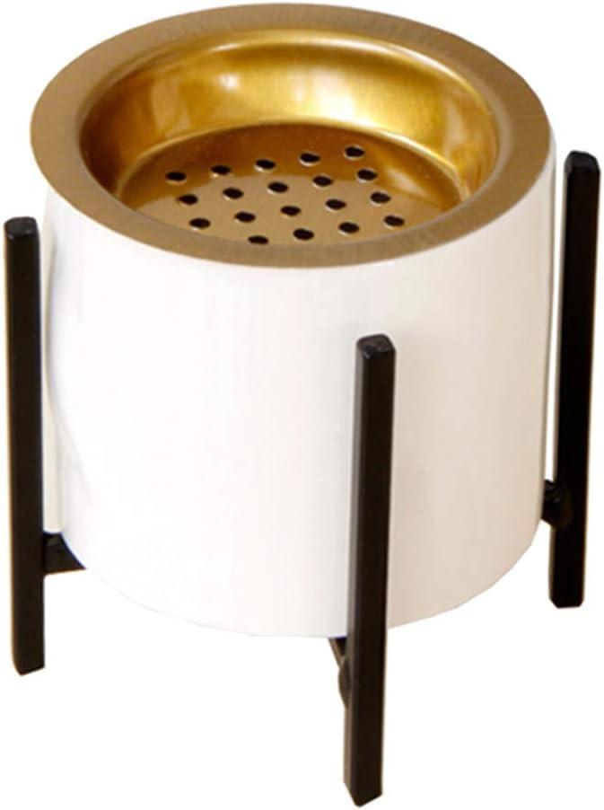 Estufa de Aroma con Junta, Quemador de Incienso de Cerámica Moderno - Soporte negro, S