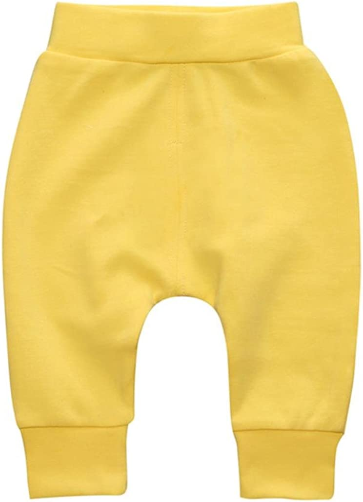Remiel Store Toddler Children Baby Girls Boys Solid Warm Cotton Pencil Pants Trousers