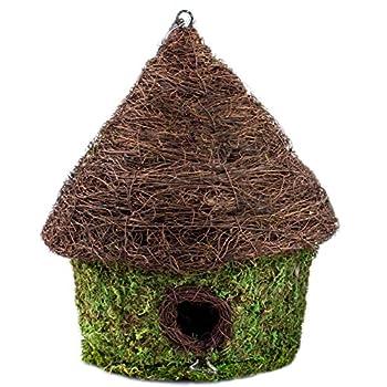 "Super Moss (56053) Bungalow Woven Birdhouse Medium, 9.5"" by 10.5"", Fresh Green"
