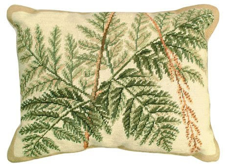 (Deluxe Pillows Fern 16 x 20 inches needlepoint pillow)